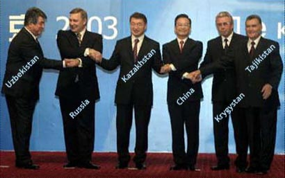 Prime Ministers of the six Shanghai Cooperation Organization nations