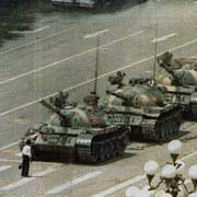 lone man stands down tank in tiananmen square